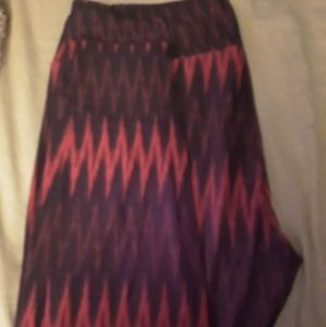 Lularoe tc leggings pink and black